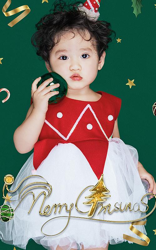芳妮豆丁儿童摄影 打卡圣诞照 | 经典红配绿我又可以了☆