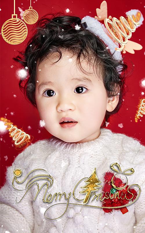芳妮豆丁儿童摄影 圣诞星