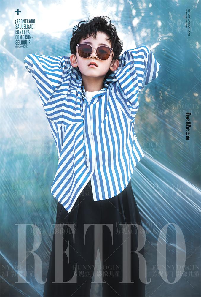 芳妮豆丁儿童摄影 蓝色记忆