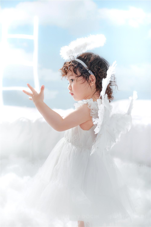 芳妮豆丁儿童摄影 梦幻天使-云中的Angel
