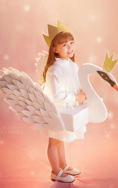 芳妮豆丁儿童摄影 粉红天鹅梦