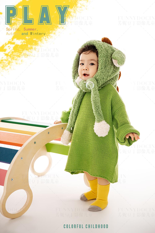 芳妮豆丁儿童摄影 萌宠小绿龙